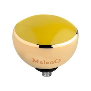 Melano Twisted Resin Meddy Edelstaal Goudkleurig Yellow
