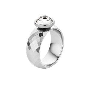 Melano Vivid Ring Vai Edelstaal Zilverkleurig 8mm breed