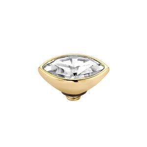 Melano Twisted Meddy 6mm Marquise Goudkleurig Crystal