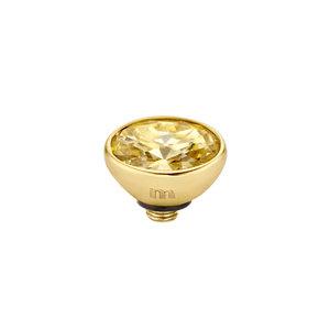Melano Twisted Meddy 6mm Oval Goudkleurig Gold-coloured Shadow