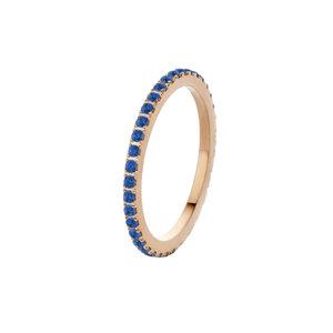 Melano Friends Ring Sade Rose Gold-coloured Zirkonia Jeans Blue
