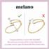 Melano Twisted Armband Taya Edelstaal Goudkleurig_