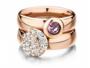 Melano Vivid Multi Zirkonia Meddy 11mm Goudkleurig Crystal_